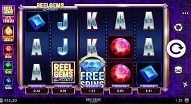 reel gems deluxe slots game